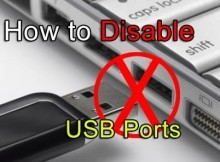 disable USB ports in windows
